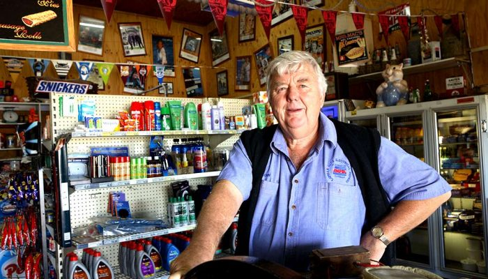 John Hallam owner of Bottle Brush Motel and Ampol Service Station